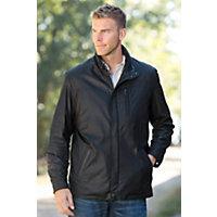 Men's Raleigh Italian Lambskin Leather Jacket, Peat / Noir, Size 44 Western & Country
