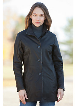 Women's Daphne Lambskin Leather Coat