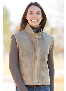 Women's Trisha Distressed Lambskin Leather Vest