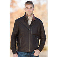 Men's Territory Lambskin Leather Jacket, Chocolate Timber, Size 46 Western & Country