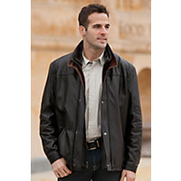 Men's Hunter Lambskin Leather Coat With Sheepskin Collar, Falcon / Rustic, Size 36 Western & Country
