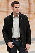Men's Ranger 3/4 Length Lambskin Leather Coat