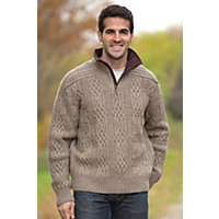 Men's Henningsvaer Norwegian Wool Pullover, E-Mountainstone, Size Large (42-44) Western & Country