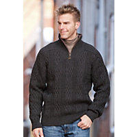 Men's Henningsvaer Norwegian Wool Pullover, T-Dark Charcoal, Size Medium (38-40) Western & Country