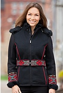 Vinje Wool-Blend Ski Jacket with Rabbit Fur Trim