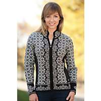 Women's Christiania Merino Wool Cardigan Sweater, F-Black, Size Small (4-6) Western & Country