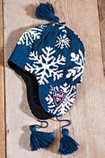 Snowflake Norwegian Wool Hat