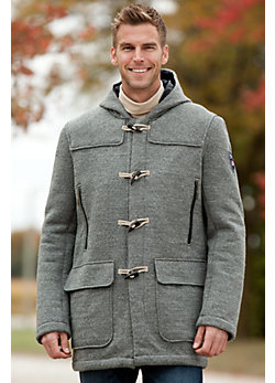Men's Oslo Hooded Wool Duffle Coat