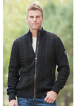Men's Loftoten Knitted Merino Wool Jacket
