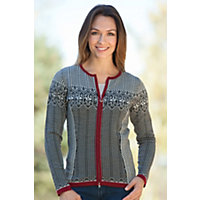 Women's Sigrid Merino Wool Cardigan Sweater, F-Black, Size Xlarge (10-12) Western & Country
