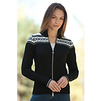 Women's Hemsedal Merino Wool Cardigan Sweater, F-Black, Size Small (2-4) Western & Country