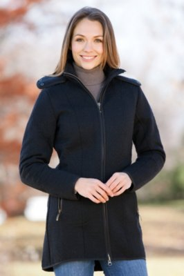 Colorado Knitshell Wool Jacket with Raccoon Fur Trim