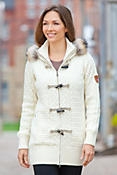 Women's Svolvaer Merino Wool Jacket with Raccoon Fur Trim