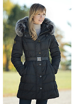 Women's Nero Ski Jacket with Fox Fur Trim