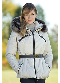 Women's Talia Ski Jacket with Fox Fur Trim