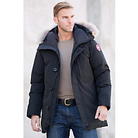 Men's Chateau Canada Goose Down Parka With Coyote Fur Trim, Black, Size Xxlarge (47-51) Western & Country