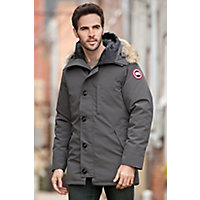 Canada Goose Chateau Down Parka with Coyote Fur Trim, GRAPHITE
