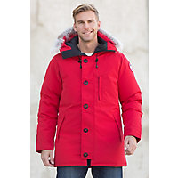 Canada Goose Chateau Down Parka with Coyote Fur Trim, RED