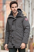 Men's Chateau Canada Goose Down Parka with Coyote Fur Trim