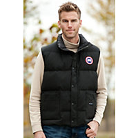 Men's Vancouver Canada Goose Quilted Down Vest, Black, Size Large (41-43) Western & Country