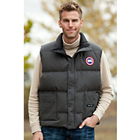 Men's Vancouver Canada Goose Quilted Down Vest, Graphite, Size Large (41-43) Western & Country