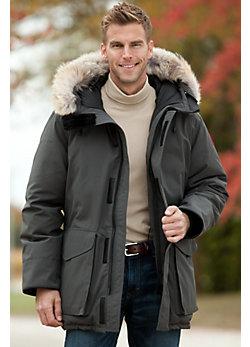 Men's Ontario Canada Goose Down Parka with Coyote Fur Trim