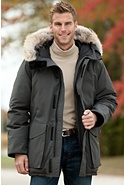 Men's Ontario Canada Goose Down Parka with Coyote Fur Trim