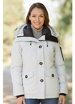 Women's Montebello Canada Goose Down Parka with Coyote Fur Trim