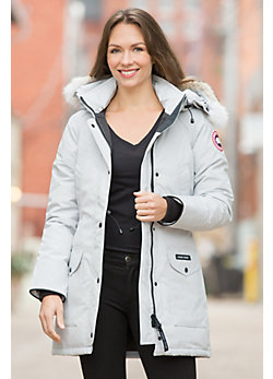 Women's Trillium Canada Goose Parka with Coyote Fur Trim
