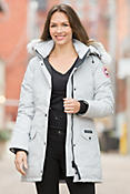 Trillium Canada Goose Parka with Coyote Fur Trim
