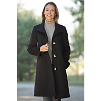 Women's Newport Loro Piana Wool Coat, Black, Size 10 Western & Country