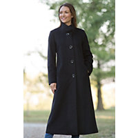 Women's Bernadine Loro Piana Wool Coat, Black, Size 8 Western & Country