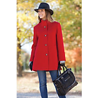 Women's Annaleigh Loro Piana Wool Coat, Apple, Size 10 Western & Country