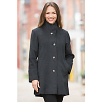 Women's Annaleigh Loro Piana Wool Coat, Oxford, Size 14 Western & Country