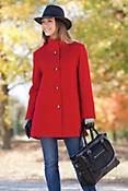 Women's Annaleigh Loro Piana Wool Coat (Missy)