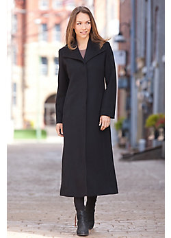 Women's Beverly Loro Piana Wool Coat