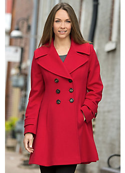 Women's Ginger Princess Loro Piana Wool Coat