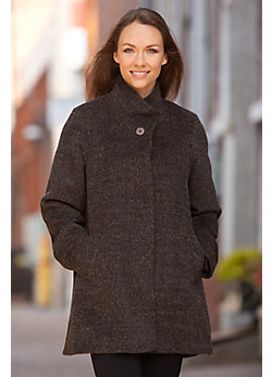 Women's Olivia Alpaca-Blend Wool Coat