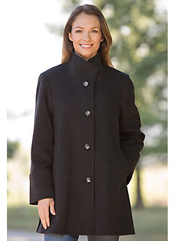 Women's Annaleigh Loro Piana Wool Coat (Petite)