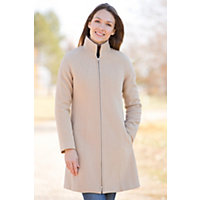 Women's Leslie Angora-Blend Wool Coat, Beige, Size Small (6) Western & Country