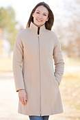 Women's Leslie Angora-Blend Wool Coat