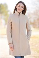 Women's Leslie Angora-Blend Wool Coat