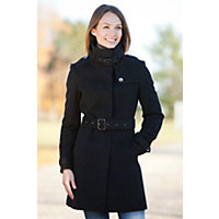 Women's Ellie Angora-Blend Wool Trench Coat, Black, Size Xlarge (12) Western & Country