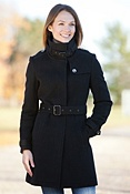 Women's Ellie Angora-Blend Wool Trench Coat
