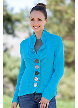Women's Boardwalk Handmade Cotton Cardigan Sweater