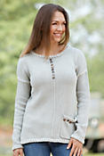 Women's Preserved Handmade Cotton Pullover Sweater