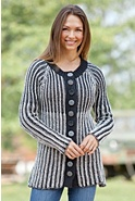 Women's English Handmade Cotton Cardigan Sweater