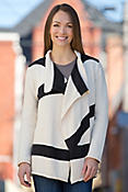 Runway Waterfall Stripe Handmade Cotton Cardigan Sweater