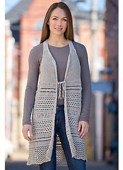 Gypsy Fringe Handmade Knitted Vest