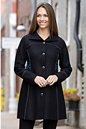 Women's Letitia Embroidered Alpaca-Blend Wool Coat